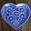 Thumbnail: Royal Blue Floral Heart-Shaped Dish