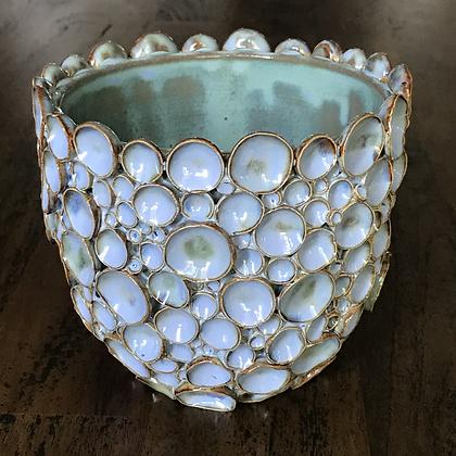 Blue/Turquoise Bubble Vessel