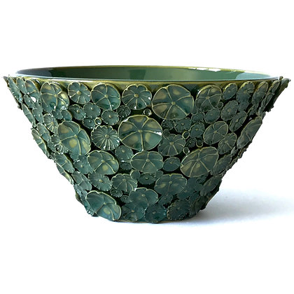 Green Floral Sprig Bowl