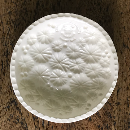White Floral Dish