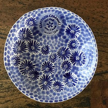 Dark Blue Floral Dish