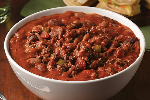 CUSTOMIZABLE: Chili (turkey, beef, or vegetarian) with your choice of carbs