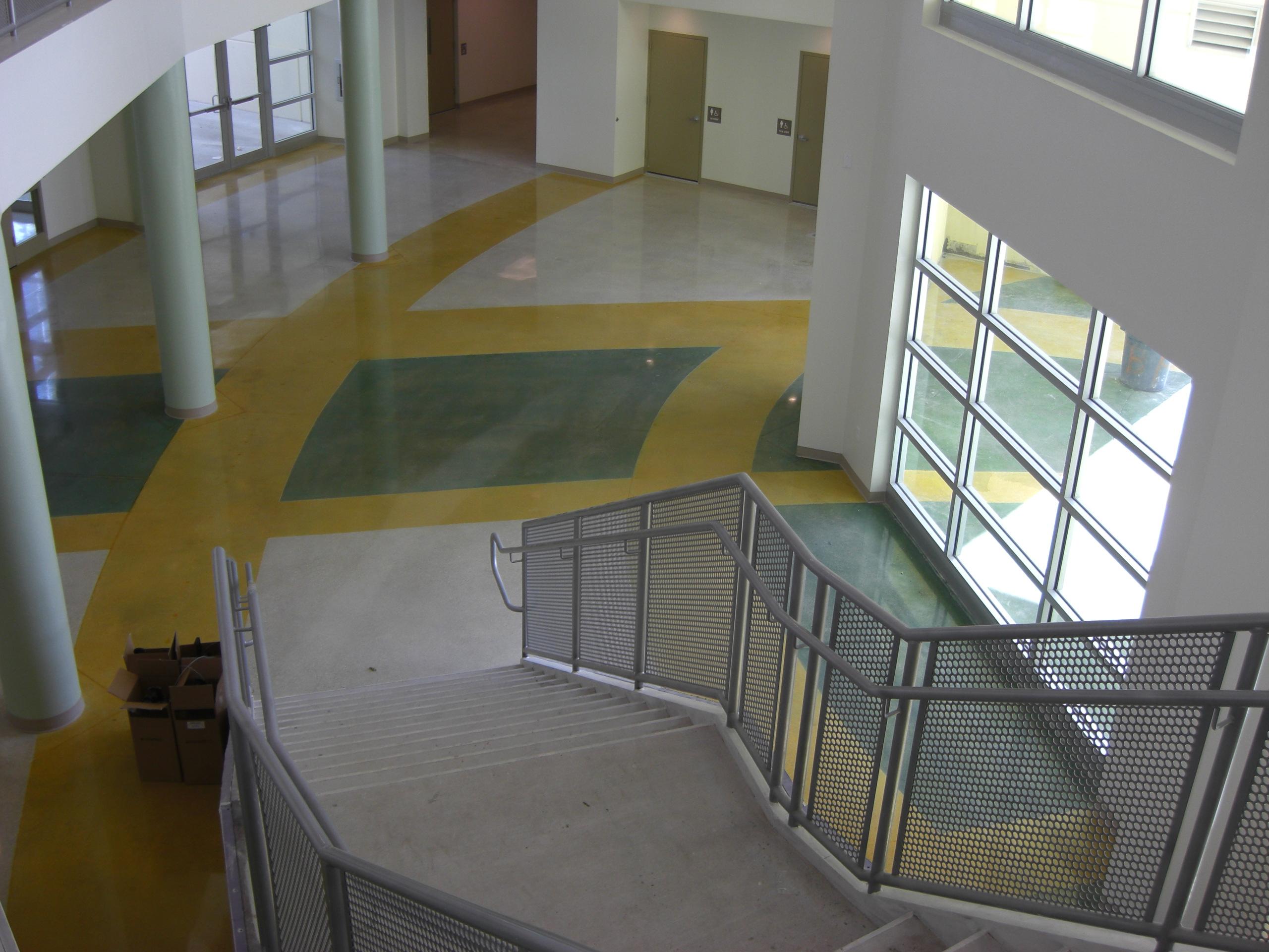 Polished Concrete Acid Etched Floors