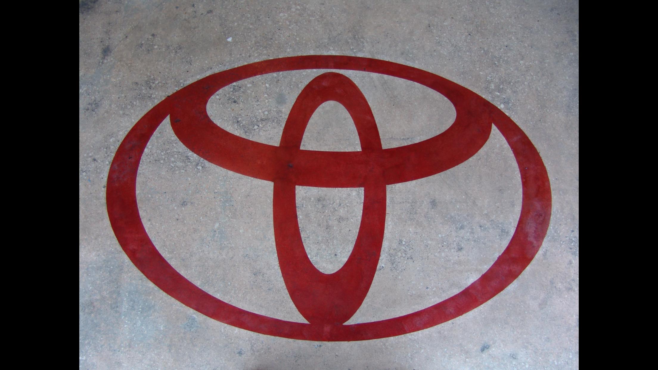 Acid Etched Toyota Logo