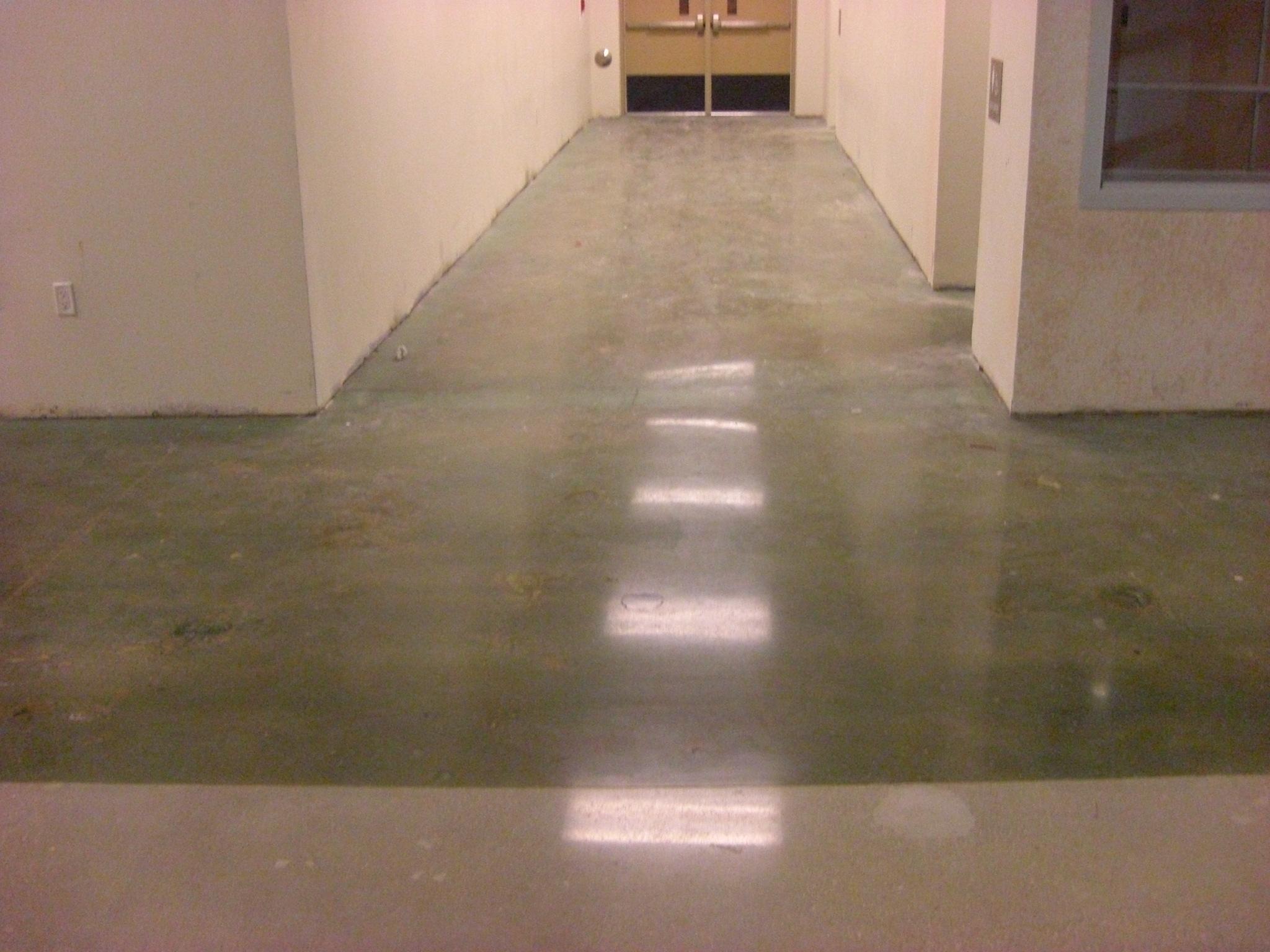 Polished Concrete Hallway