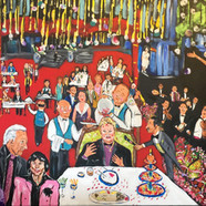 Eski TRT' de Yılbaşı Kutlaması (60x100)