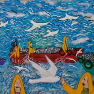 Kuşlar, Balıklar ve Balıkçılar (70x100)