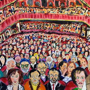 Salonda Tanıdık Yüzler (60x50)