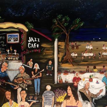 Jazz Cafe' de Bir Gece (100x60)