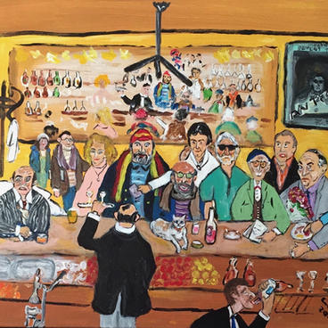 Matine Çıkışı Park Cafe'de Kayıntı (60x50)