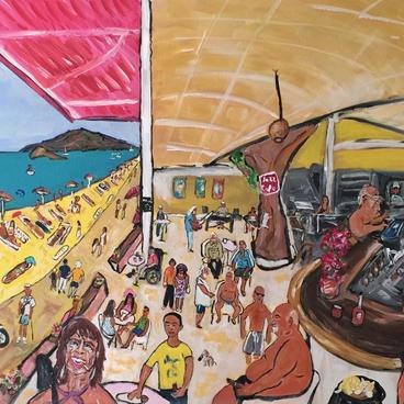 Jazz Cafe'de Bir Yaz Günü ( 80x60)