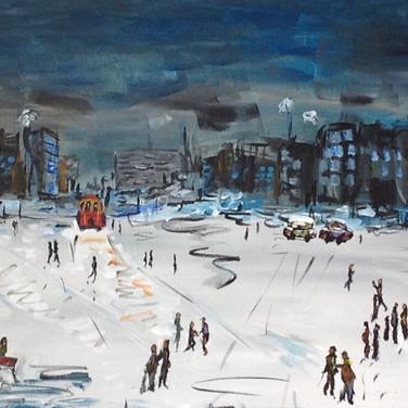 Karlı Bir Gecede Taksim