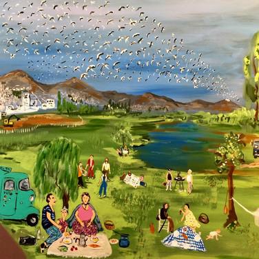 Söğütözü' nde Piknik (110x70)