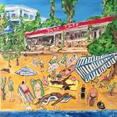 Jazz Cafede Bir Yaz Günü  (80x60)