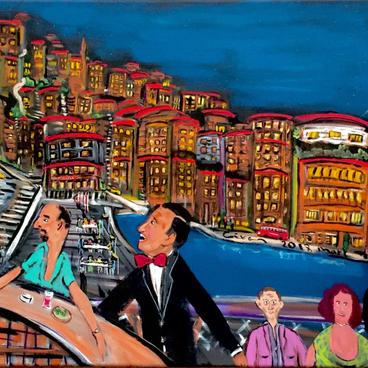 Ortaköy'de Akşam Sefası (120x60)