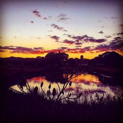 September 11th #sunset #branford #ct #branfordlove #water #sky #clouds #reflection _branfordlove #91