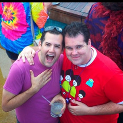 #tbt 2008 _rfamilyvacations #cruise with Ross Matthews _helloross #gay