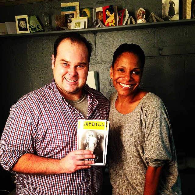 Me cheesin #backstage with my favorite #AUDRA after #LadyDay #broadway #genius _rfamilyvacations