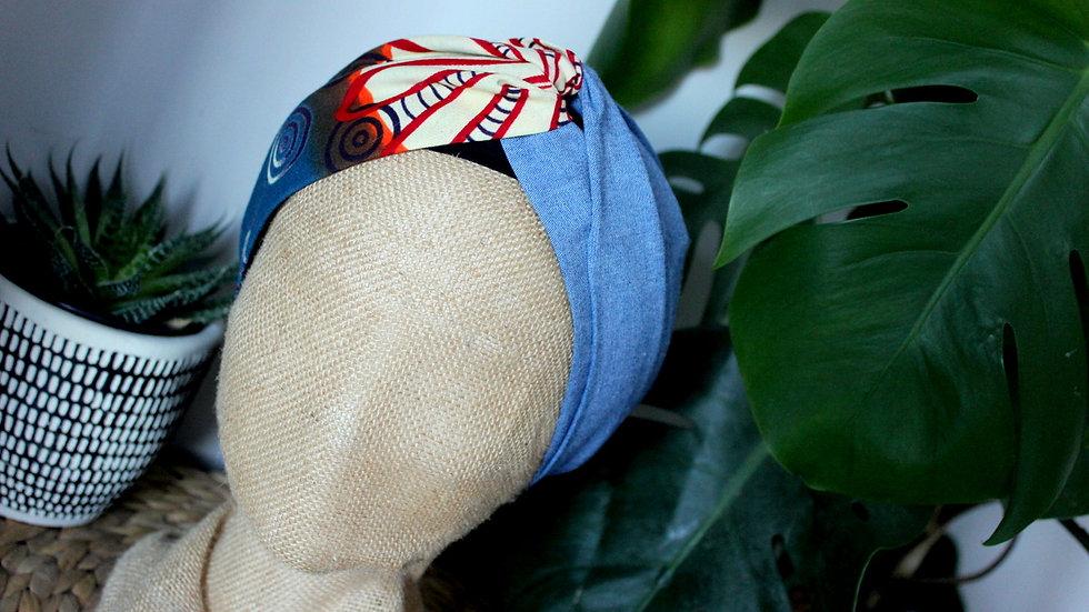 Headband bi-matière Wax et Jeans