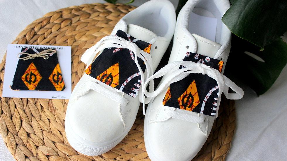 LANGUETTE chaussures en tissu Wax
