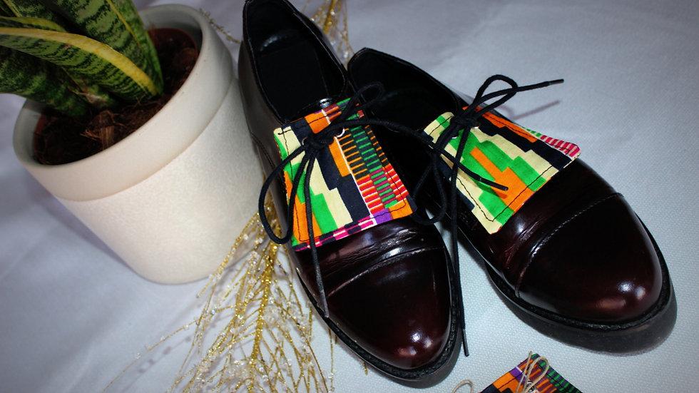 L4 - LANGUETTE chaussures en Kente