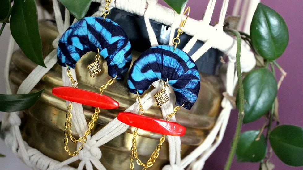 B.O demi-lune en tissu Batik