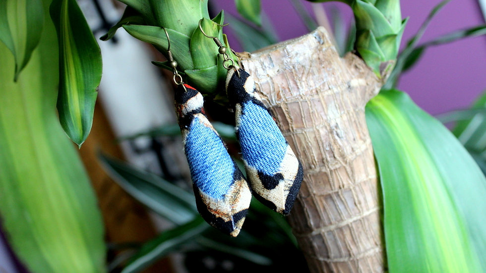 B.O Jeans recyclé et tissu Batik