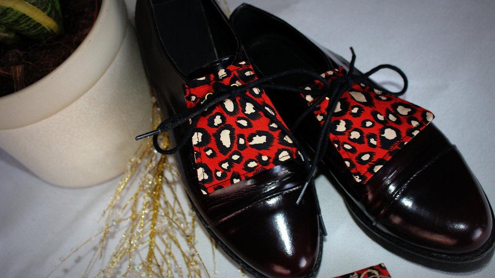LANGUETTE chaussures en tissu coton Léopard