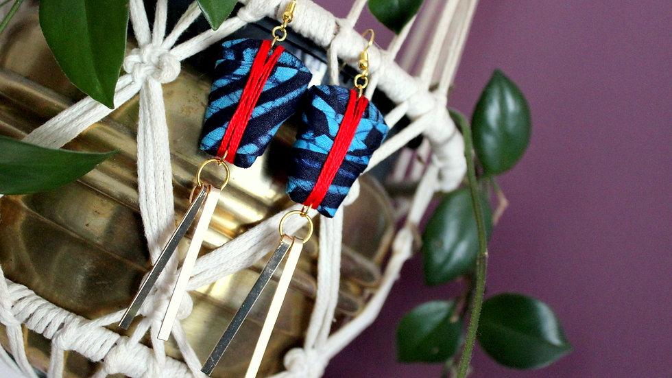 B.O chic pendante en tissu Batik