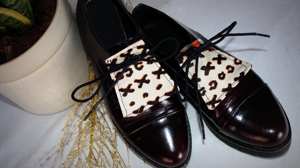 LANGUETTE chaussures en Wax
