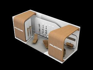 Bullo Design - EXHIBITION STAND SALONE DEL MOBILE - Palazzani Project - 2008