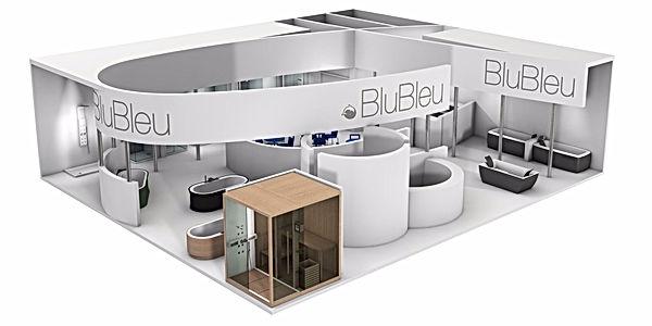 Bullo Design - EXHIBITION STAND CERSAIE - Blu Bleu - 2011