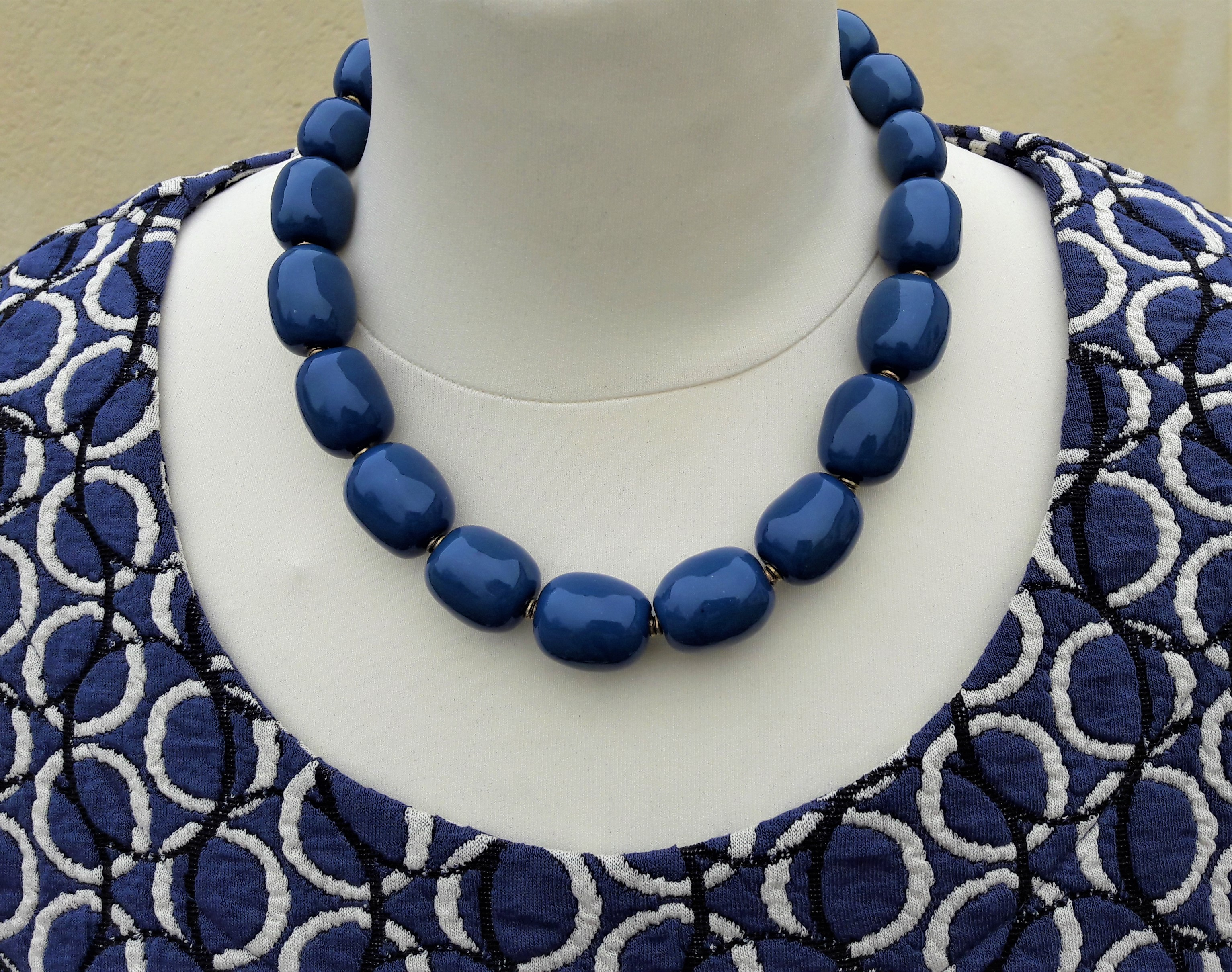 Halskæde fra Kazuri kr.475,-