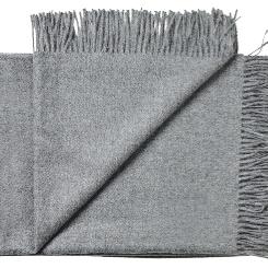 (N)Lys grå plaid/tørklæde