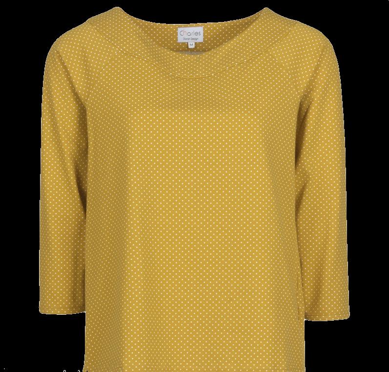 charles-design-gul-bluse-prikker