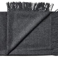 (N) Koksgrå plaid/tørklæde