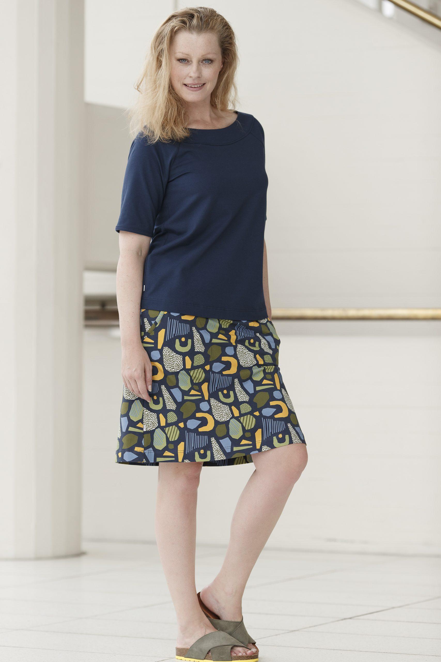 Mønstret nederdel før 499,- / NU:249,50