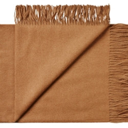 (N)Brun alpaca plaid/tørklæde