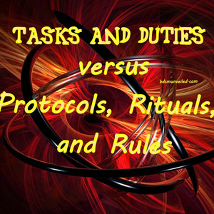 Tasks and Duties of a Submissive