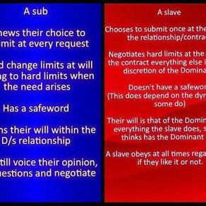 Submissive Versus Slave