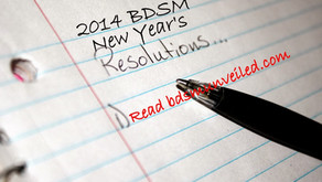 2014 BDSM New Year's Resolutions