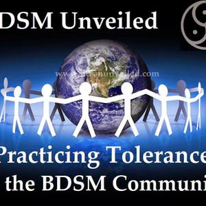 Tolerance in the BDSM Community