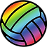 VolleyballClipArt-Rainbow (For CD Websit