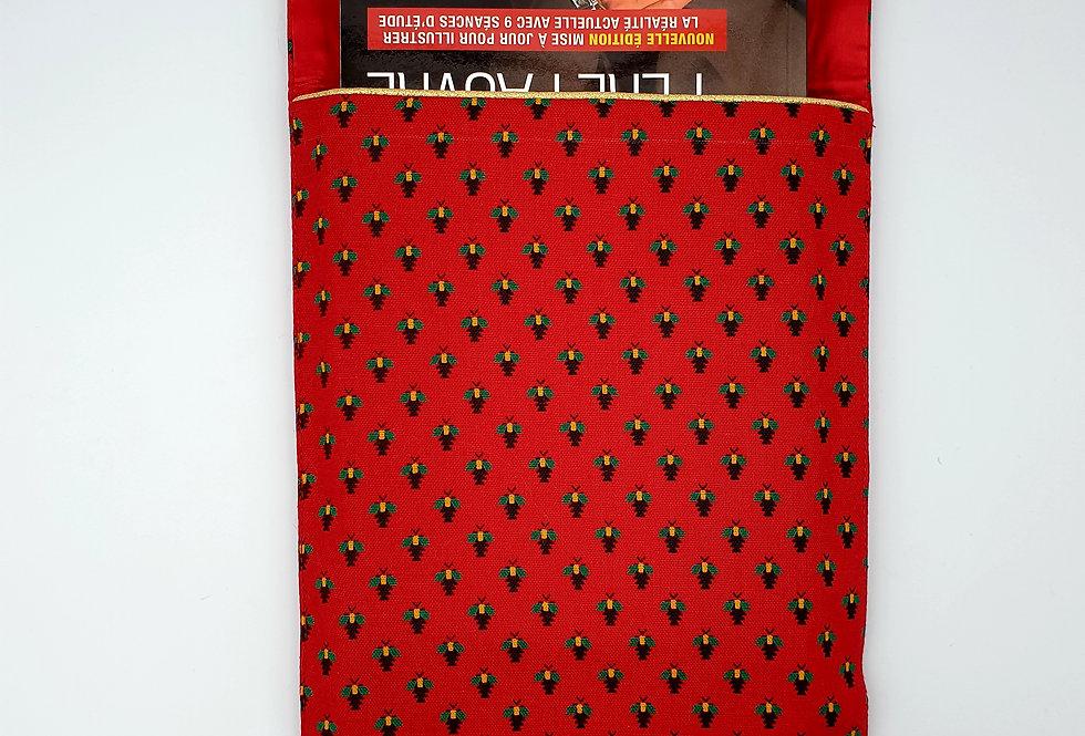 Pochette de livre - Vert & Rouge