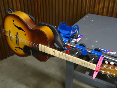Guitar Lovers...Treat yourself to a great tool... Rotates, pivots and locks. Totality cushioned.