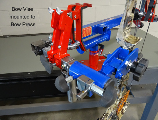 Bow Vise mounted to Bow Press