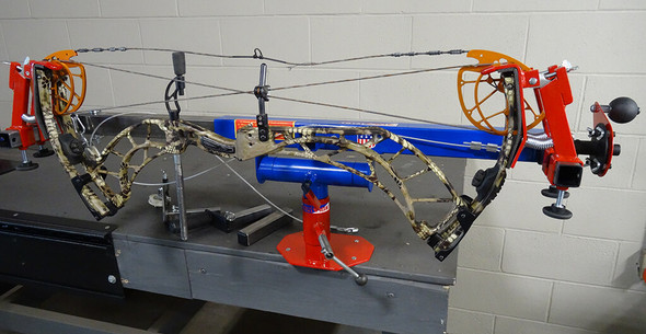 Compound Bow Pressed in Total Vise