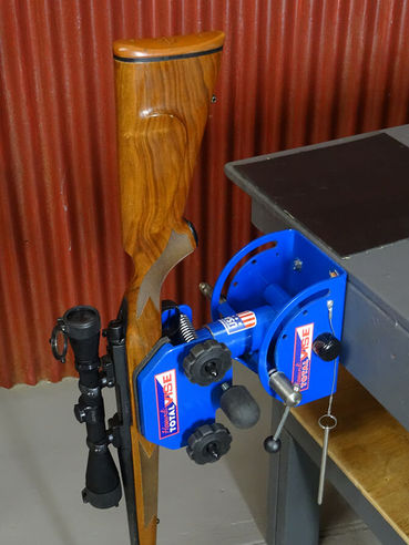 Total Vise Gun Cleaning Stand Holding Rifle
