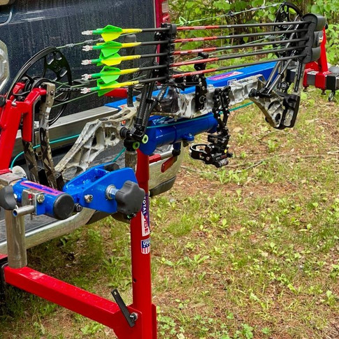 Bow Press Work Station on Quick Hitch Mount