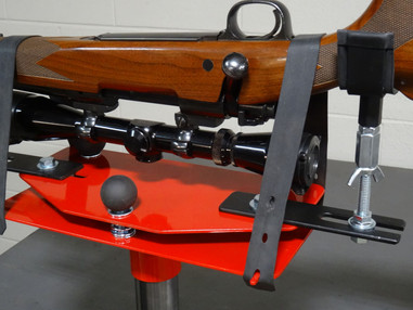 Rubber Mounting Straps Hold Rifle In Any Position
